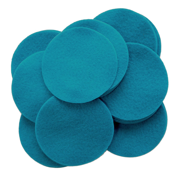 Ocean Blue Felt Circles (3/4 to 5 inch)