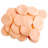 Peach Felt Circles (3/4 to 5 inch)