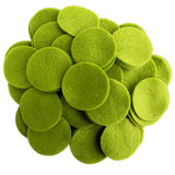 Pear Green Felt Circles (3/4 to 5 inch)