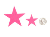 Pink Felt Star Stickers (1.5 to 3 Inch)