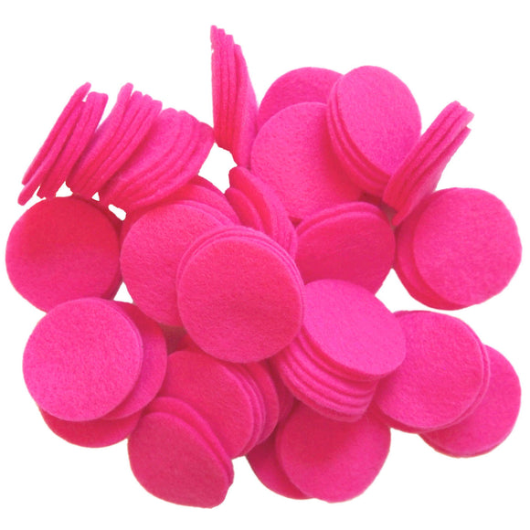 Pink Felt Circles (3/4 to 5 inch)