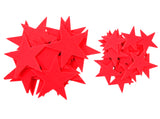 Red Felt Star Stickers (1.5 to 3 Inch)
