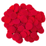 Red Felt Circles (3/4 to 5 inch)