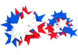 Stiff Red, White & Blue Felt Stars (1.5 to 3 Inch)