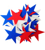 Red, White & Blue Felt Star Stickers (1.5 to 3 Inch)