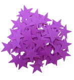Purple Felt Star Stickers (1.5 to 3 Inch)