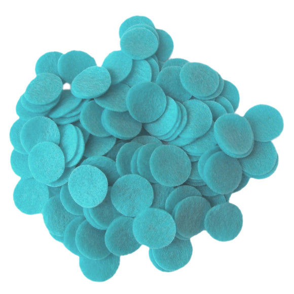 Turquoise Felt Circles (3/4 to 5 inch)