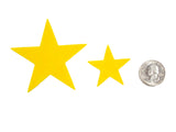Yellow Felt Star Stickers (1.5 to 3 Inch)
