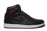 Air Jordan 1 Retro High Black Satin Gym Red