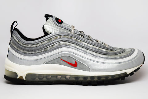 Nike Air Max 97 Metallic Silver Varsity Red
