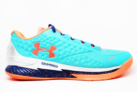 Under Armour Curry One Low Hyper Green Purple Blitz Orange