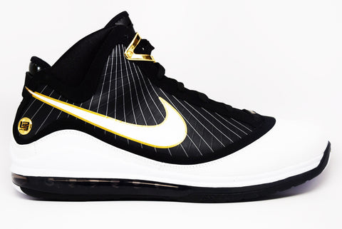 Nike Air Max Lebron 7 White Black Gold