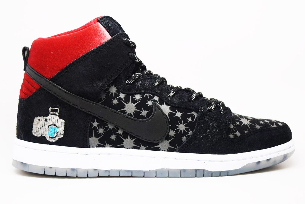 4b8e601d3f0 Nike Dunk High Prem SB BP QS Paparazzi