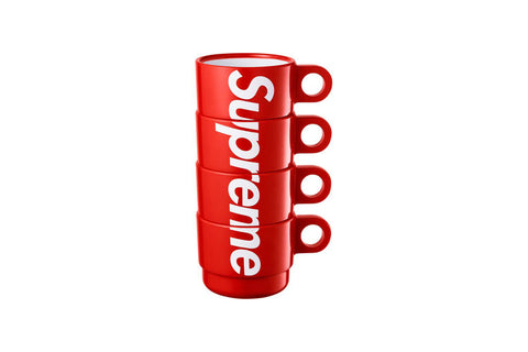 Supreme Stacking Cups Red Set of 4