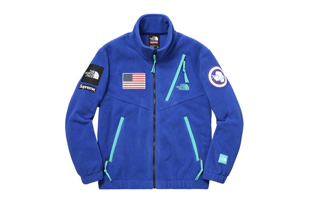 Supreme The North Face Trans Antarctica Expedition Fleece Jacket Royal