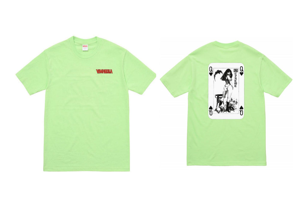 Supreme Vampirella Card Tee Light Green