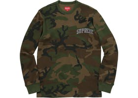 Supreme Arc Logo L/S Thermal Woodland Camo