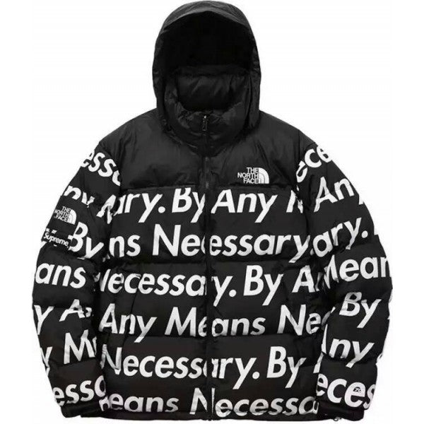 Supreme The North Face By Any Means Necessary (BAMN) Nuptse Black
