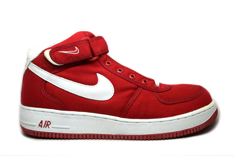 Nike Air Force 1 Mid Canvas Red White