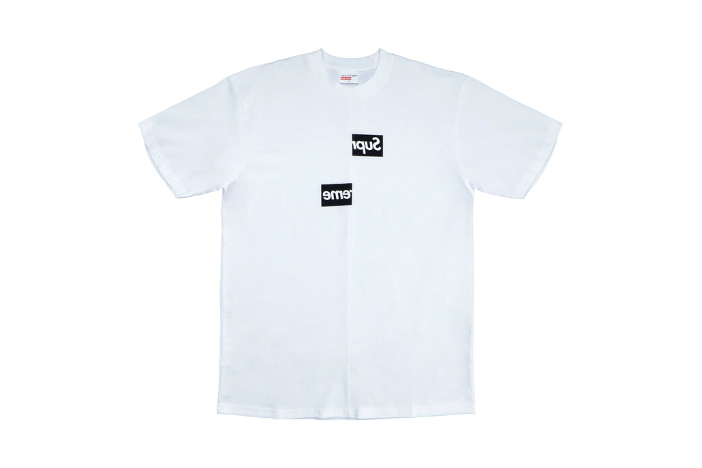 Supreme Comme des Garcons SHIRT Split Box Logo Tee White