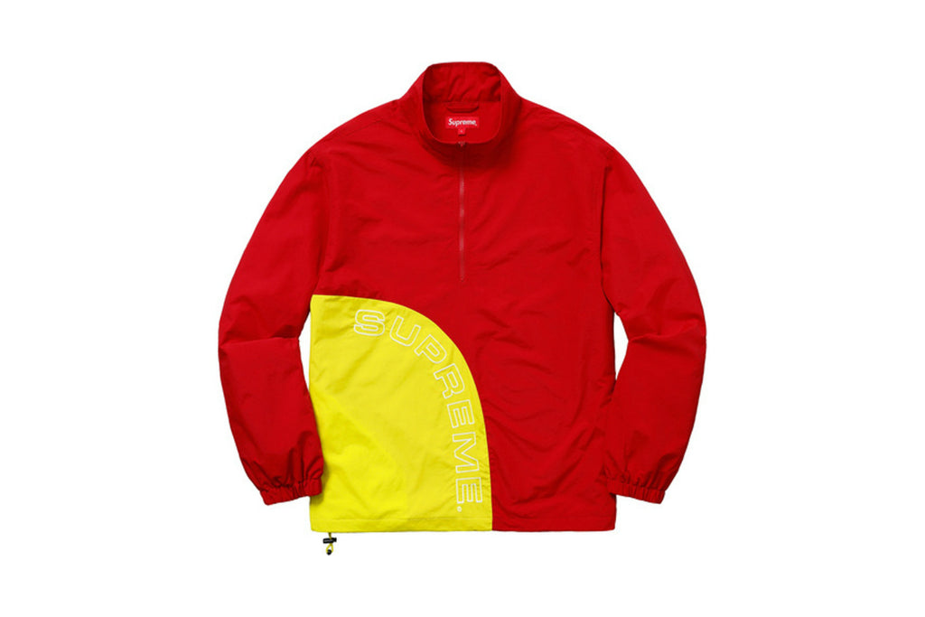 Supreme Corner Arc Half Zip Pullover Red