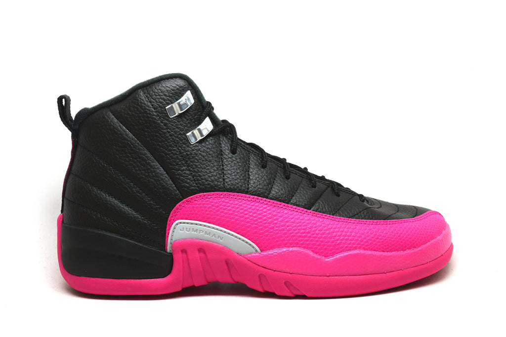 Air Jordan 12 Retro Black Deadly Pink GS