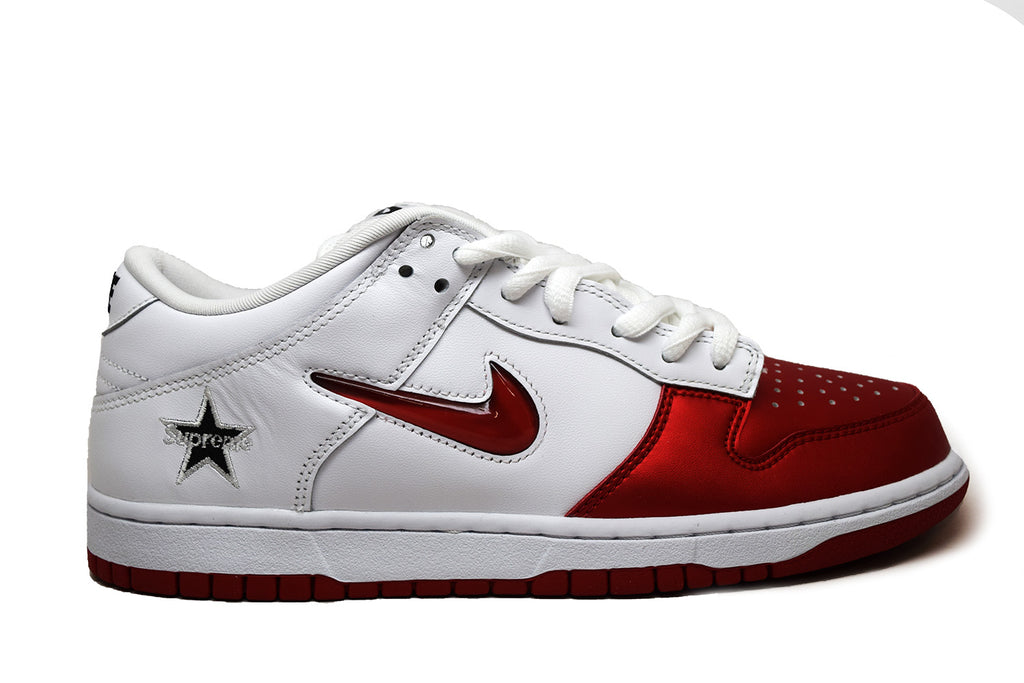 Nike Dunk SB Low Supreme Jewel Swoosh Red