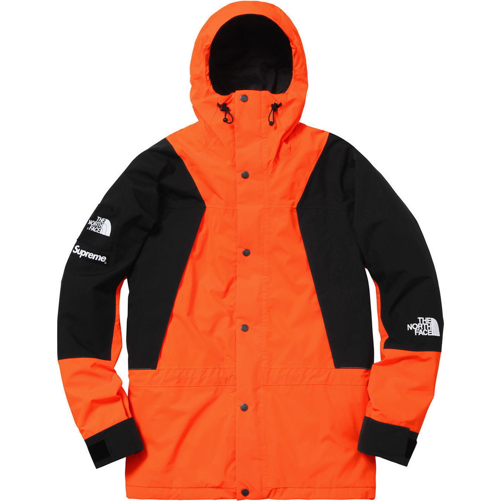 Supreme The North Face Mountain Light Jacket Power Orange