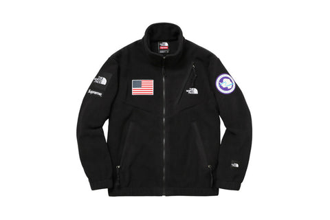 Supreme The North Face Trans Antarctica Expedition Fleece Jacket Black