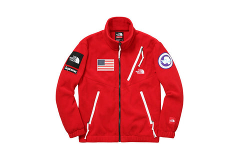 Supreme The North Face Trans Antarctica Expedition Fleece Jacket Red