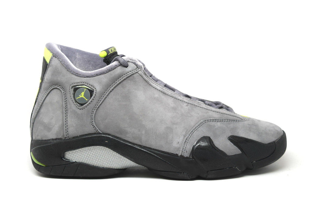 28d6a77bf25be1 Air Jordan 14 Retro Graphite Chartreuse – PRSTG SHOP