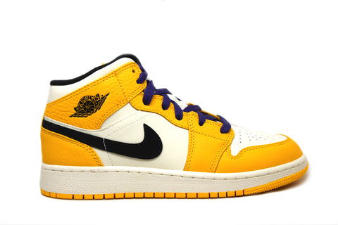 Air Jordan 1 Mid SE Lakers GS