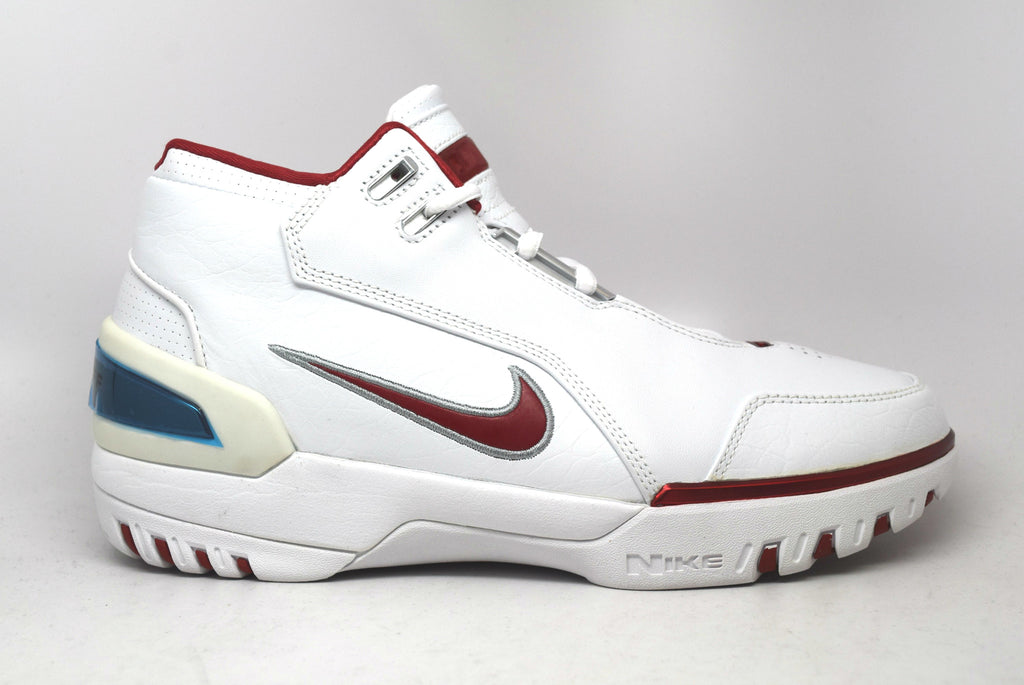 7dee437a0dc4 Nike Air Zoom Generation Lebron White Varsity Crimson