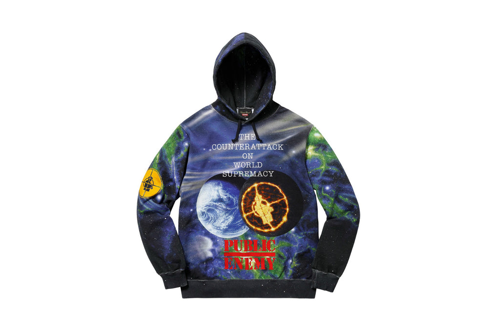 Supreme UNDERCOVER/Public Enemy Hooded Sweatshirt Multi