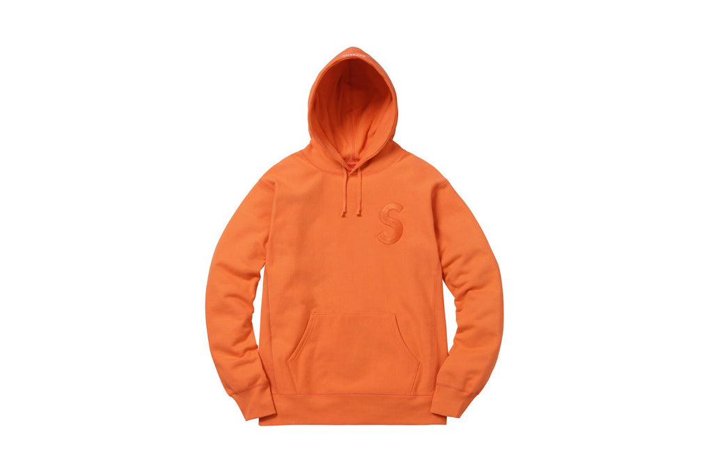 Supreme Tonal S Logo Hoodie Bright Orange