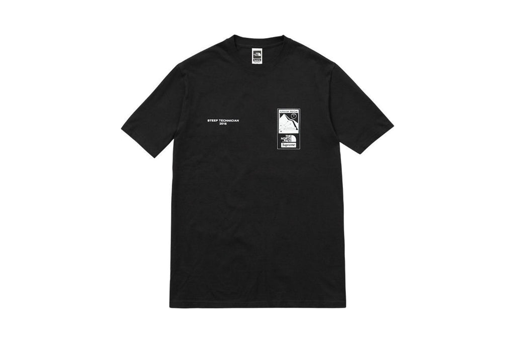 Supreme The North Face Steep Tech T Shirt Black
