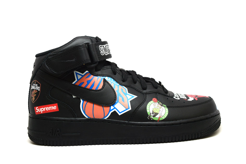 Nike Air Force 1 Mid Supreme NBA Black
