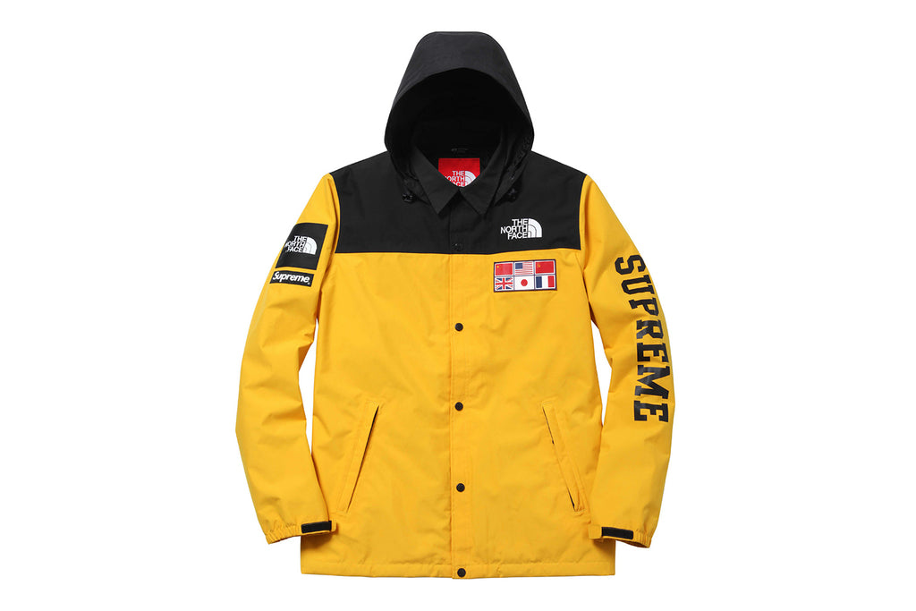 Supreme The North Face Expedition Coaches Jacket Yellow
