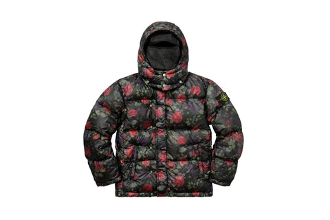 Supreme Stone Island Lamy Cover Stampato Puffy Jacket Black