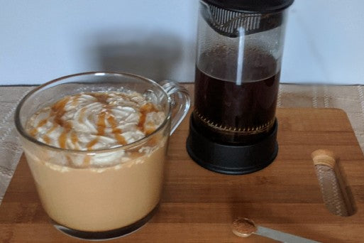 Organic Caramel Pumpkin Latte - Be Still Farms Recipe