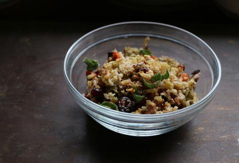Organic Brown Rice Stuffing - Be Still Farms Recipe