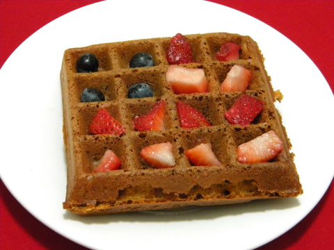4th of July Red, White and Blue Waffles with Certified Organic Soft White Wheat