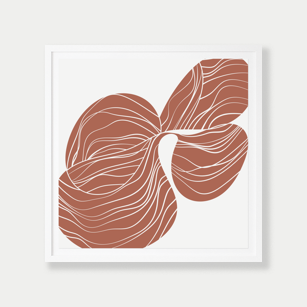 Reverse Orchid Study | Terracotta