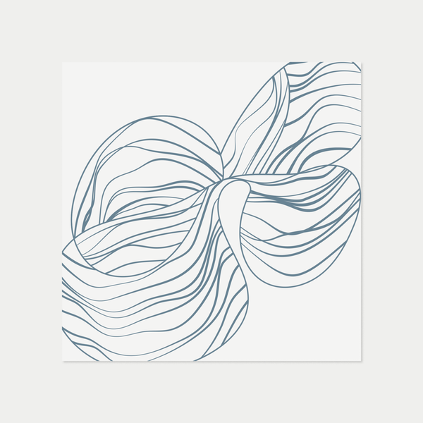Linear Orchid Study | Blue
