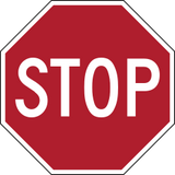 current red stop sign