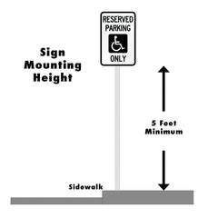parking sign mounting height