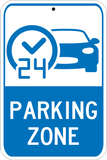 24 Hour Parking Zone - Sign Wise