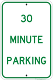 30 Minute Parking Only - Sign Wise