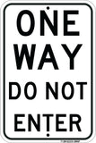 "One Way - Do Not Enter, 12""x18"" - Sign Wise"