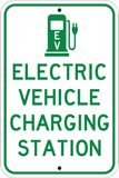 Green Electric Vehicle Charging Station - Sign Wise